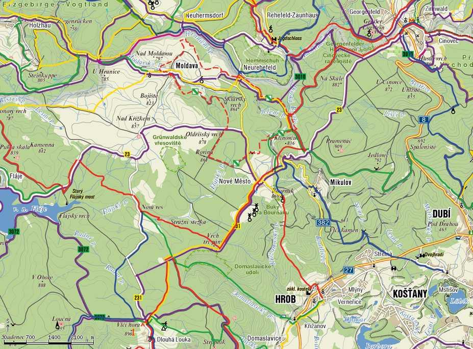 Mapa Turisticka Mapa Krusne Hory